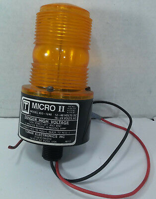 1 USED TOMAR 495-1248 MICRO II ORANGE BEACON LIGHT ***MAKE OFFER***, used for sale  Shipping to India