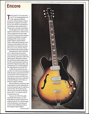 The 1959 Gibson ES-330TD vintage guitar 2001 article 8 x 11 pin-up photo print
