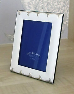 silver plated white photo frame picture frame 4x6 5x7 6x8 ebay. Black Bedroom Furniture Sets. Home Design Ideas