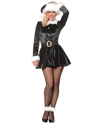 Santa'S Little Helper Sexy Adult Womens Halloween (Santas Helper Sexy Kostüm)