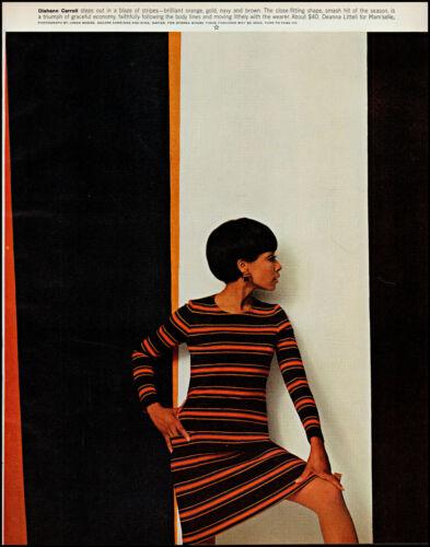 1966 Diahann Carroll modeling Deanna Littell fashions retro photo print ad L88