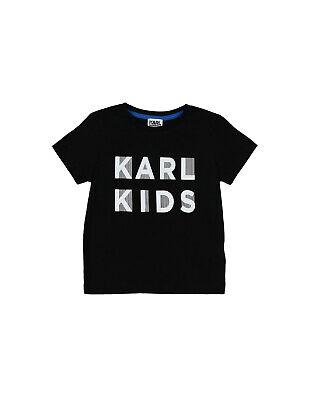 KARL LAGERFELD KIDS T-Shirt Top Size 6Y / 114Y Coated Logo Short Sleeve