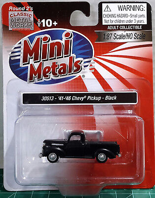 HO Scale Classic Metal Works 41-46' Chevy Pickup 'Black' Item #30513