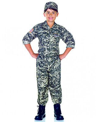 Army Camouflage Uniform Usa Soldier Child Boys Halloween