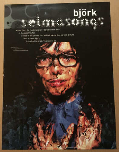 BJORK Ultra Rare  2000 PROMO POSTER for SelmaSongs CD 18x24 USA NEVER DISPLAYED