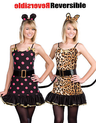 Cute Sexy Mouse Leopard Print Womens Girls Reversible Halloween - Cute Halloween Costume Women