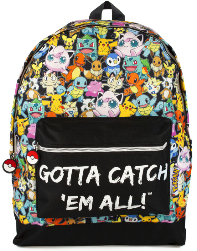 Pokemon Backpack Gamer Bag with Adjustable Straps One Size