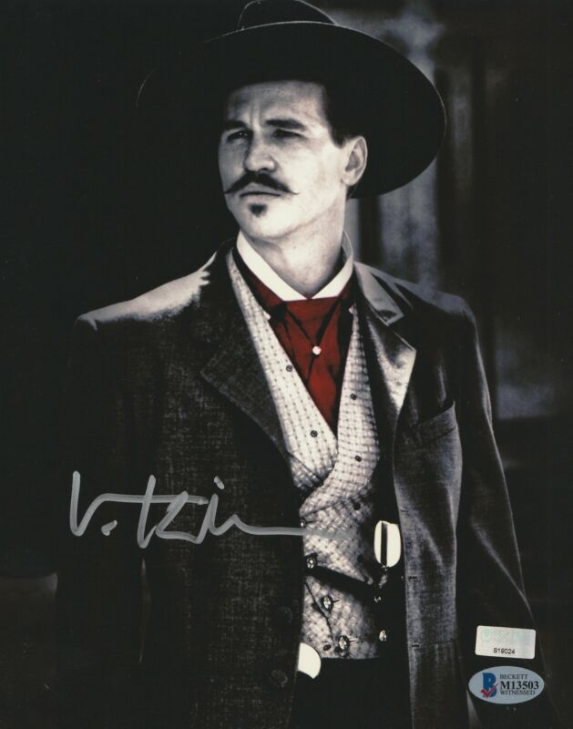 Val Kilmer Autograph 8x10 Photo Tombstone Doc Holliday Signed BAS COA