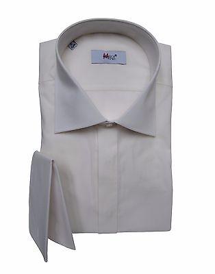 Herren Hemd mit Einstecktuch Gr.L Creme