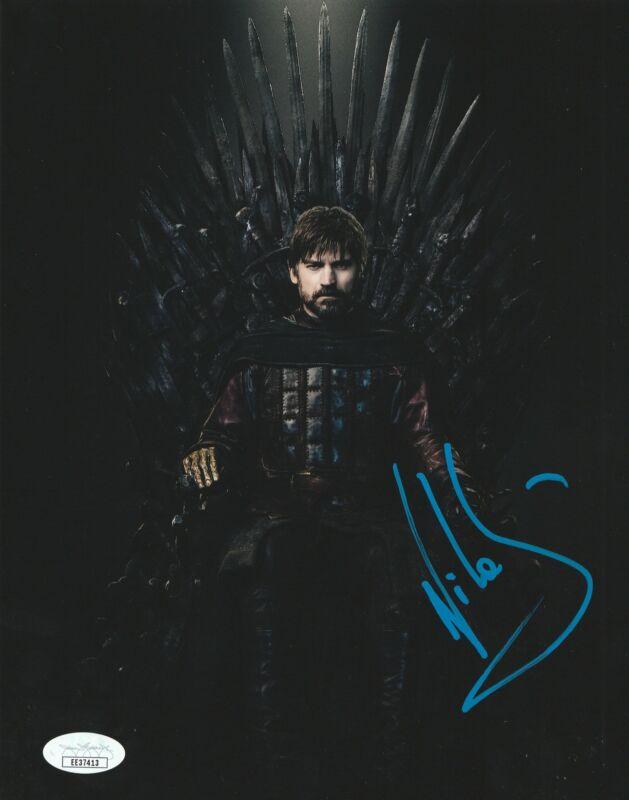 Nikolaj Coster-Waldau Autograph 8x10 Photo Game of Thrones Jaime Lannister JSA