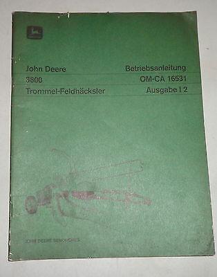 Operating Instructionsmanual John Deere Trommel-feldhcksler 3800