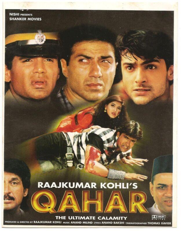 India Bollywood 1997 Qahar Press Book Sunny Deol Sunil Shetty Sonali Bendre