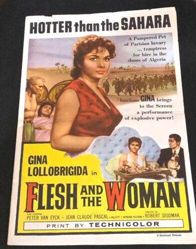 "GINA LOLLOBRIGIDA- 1958- ""FLESH & THE WOMAN"" MOVIE PROMOTIONAL KIT- UNIQUE!"