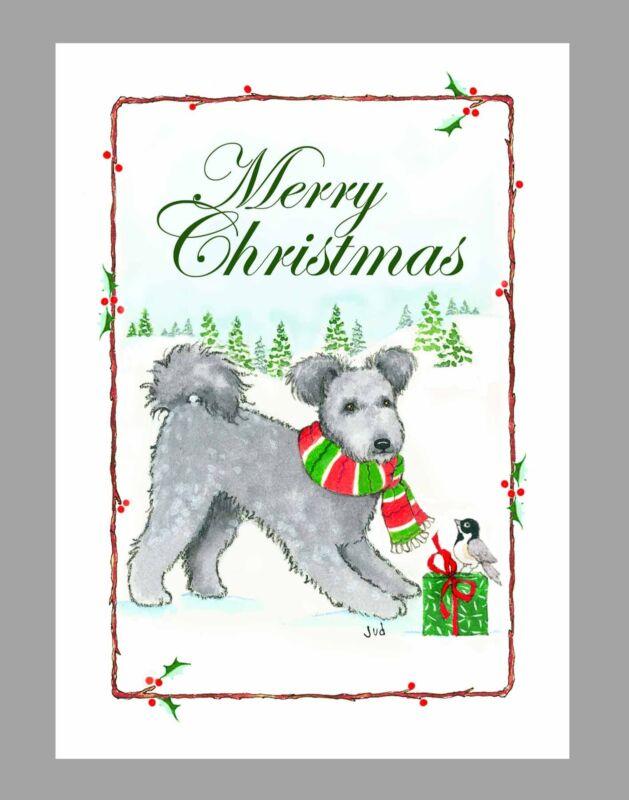Pumi Dog Christmas Cards, Box of 16 Cards & 16 Envelopes