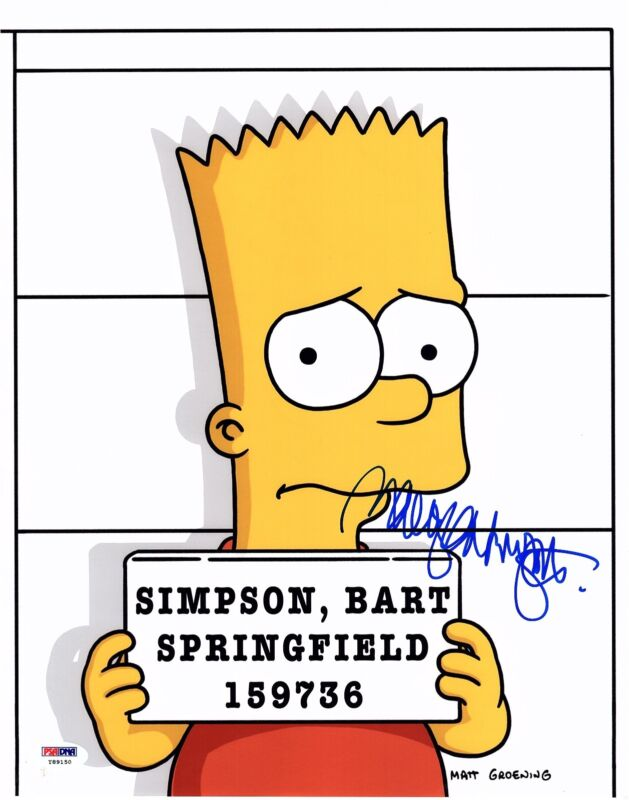 NANCY CARTWRIGHT SIGNED THE SIMPSONS 11X14 PHOTO! AUTOGRAPH! RARE BART! PSA DNA