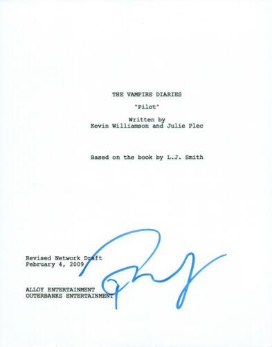 Paul Wesley Signed Autographed THE VAMPIRE DIARIES Pilot Script COA VD
