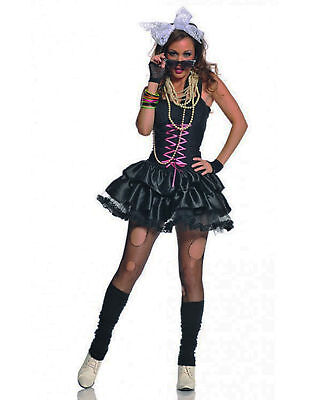 Awesome Black Tutu Corset 80'S Rocker Adult Womens Halloween Costume](Awesome 80s Costumes)