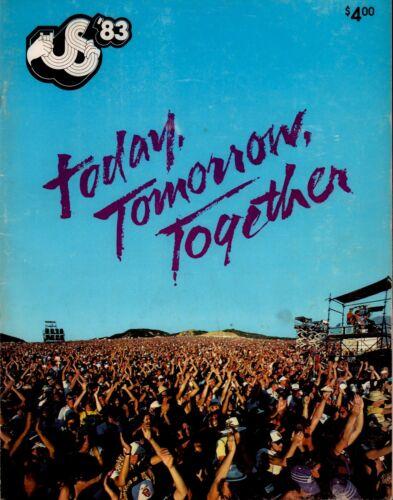 DAVID BOWIE / U2 / STEVIE NICKS / THE CLASH / VAN HALEN 1983 US FESTIVAL PROGRAM