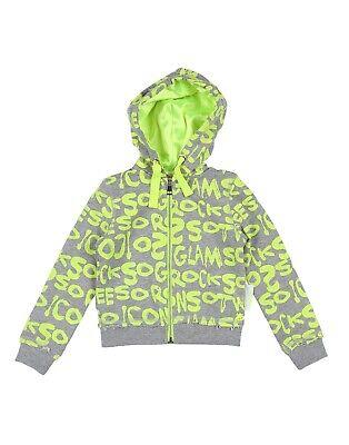 SO TWEE BY MISS GRANT Sweat Jacket Size 3Y Melange Effect Printed Hooded