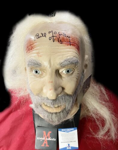 BILL MOSELEY AUTOGRAPHED SIGNED MASK! HOUSE OF 1000 CORPSES! BECKETT COA! OTIS!