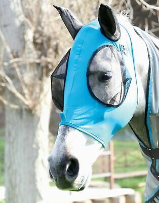 Horse Masks (Equine Ride Horse Fly Masks Summer Spring Airflow Mesh UV Mosquitoes Pests)