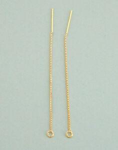 One Pair 3 14k Gold Vermeil Ear Thread Threader Earrings W Open Ring Free Ship Ebay