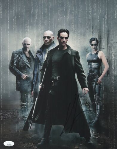 KEANU REEVES Signed MATRIX 11x14 Photo In Person Autograph JOHN WICK JSA COA