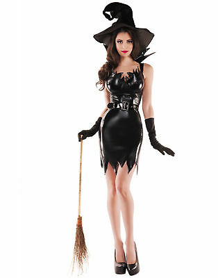 Liquid Black Witch Erwachsene Damen Sexy Halloween Kostüm - Groß