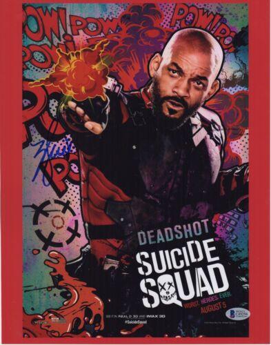 WILL SMITH SIGNED SUICIDE SQUAD 11x14 PHOTO! DEADSHOT AUTOGRAPH! PSA BAS COA! 1