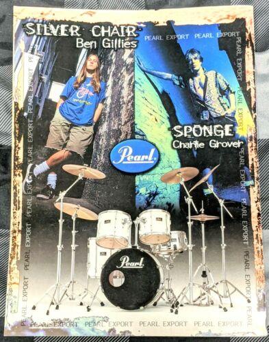 SILVERCHAIR / BEN GILLIES / 1994 PEARL EXPORT DRUMS MAGAZINE PRINT AD + FREE DVD