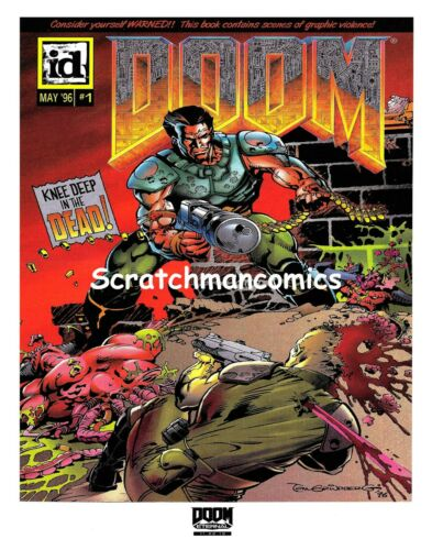 "DOOM Eternal Comic May 1996 Cover Reprint 11-22-19 Semi-Gloss Poster 20"" x 30"""