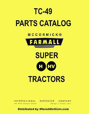 Farmall Super H Hv Parts Manual Print