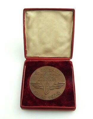 #e8473 Alte Medaille Dzien Kolejarza Polski Ludowej 1978 Tag des Eisenbahners