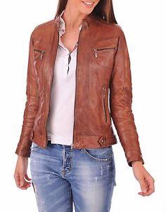 New-Vintage-Women-Slim-Fit-Biker-Motorcycle-Soft-Leather-Zipper-Jacket-Coat