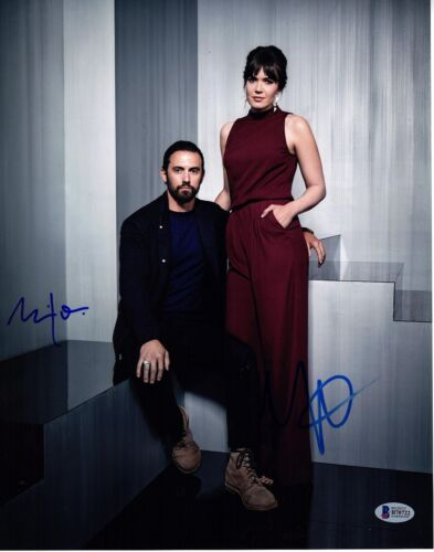 MILO VENTIMIGLIA MANDY MOORE SIGNED 11X14 THIS IS US PHOTO! AUTOGRAPH BAS PSA