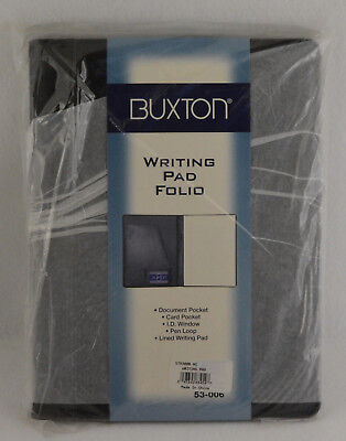 Buxton New Velvet Touch Cowhide Leather Writing Pad With Calculator