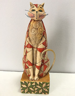 Jim Shore Abraham Cat 2003 Figurine Heartwood Creek 114420