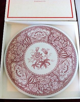 VTG SPODE*PIE/CAKE SERVING PLATTER*CRANBERRY*Archive Collection-Georgian Series