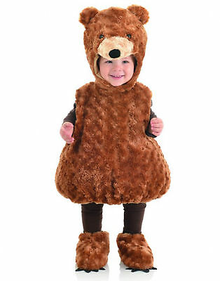 Brown Teddy Bear Belly Babies Toddler Halloween Costume - Xl (4-6)