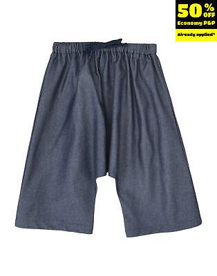 LA BOTTEGA DI GIORGIA Denim Trousers Size 8Y Dropped Crotch Made in Italy