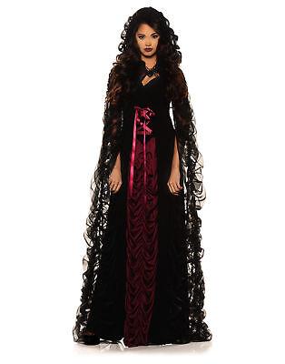 Goth Costumes (Midnight Mist Gothic Adult Womens Halloween)
