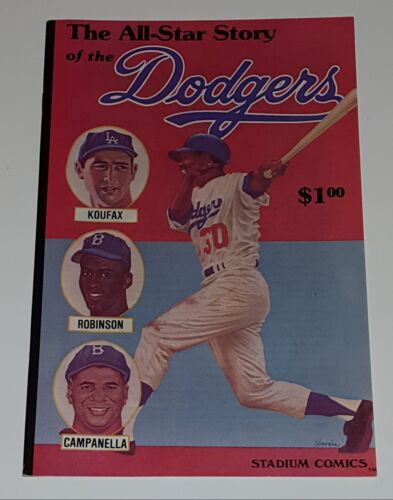 All Star Story of the Dodgers #1 Stadium Comics  1979   Fine