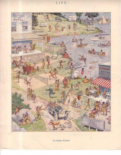 1914 Life centerfold - An Indian Summer