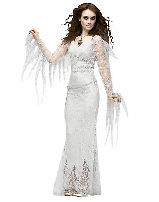 White Lace Ghostly Lady Diamond Adult Womens Halloween - Diamond Costume Halloween
