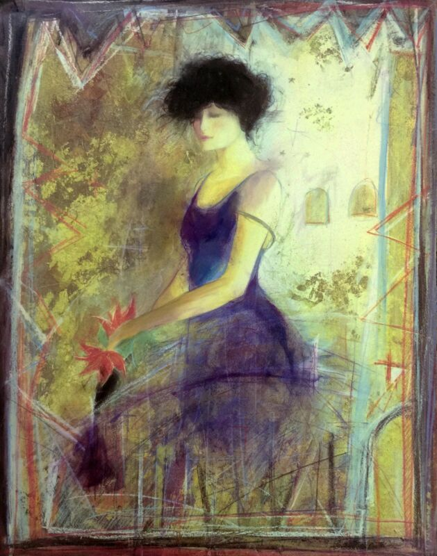 """Janet Treby """"blue Dress"""" 