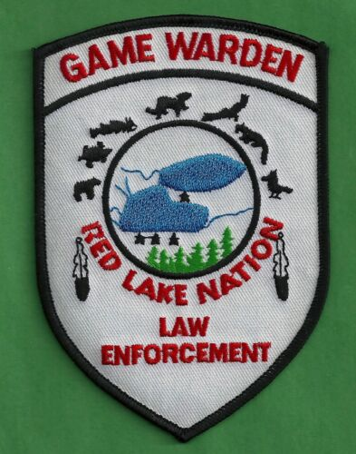 RED LAKE NATION MINNESOTA TRIBAL GAME WARDEN LAW ENFORCEMENT SHOULDER PATCH