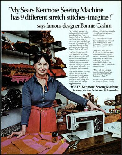 1972 Bonnie Cashin designer Kenmore sewing machine retro photo print ad L75