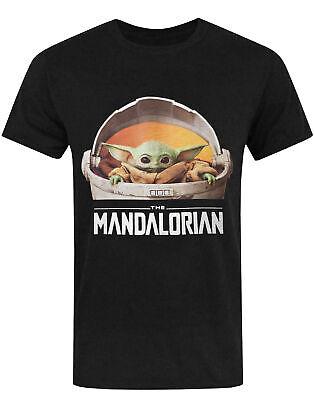The Mandalorian Baby Yoda Star Wars Men's Short Sleeve Black T-Shirt