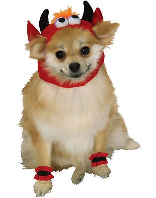 Monster Red Devil Kopfstück mit Bündchen Hunde Katze Haustier Halloween Kostüm