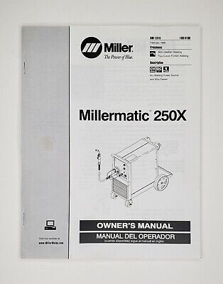 Miller Millermatic 250x Owners Manual Englishspanish February 1999